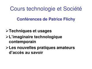 Cours technologie et Société