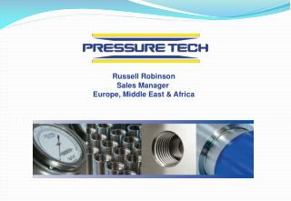 Russell Robinson Sales Manager  Europe, Middle East & Africa