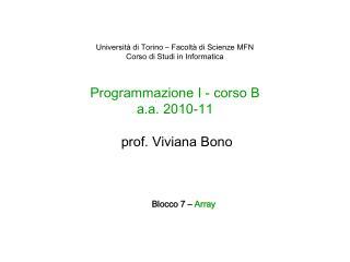 Blocco 7 –  Array