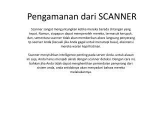 Pengamanan dari SCANNER