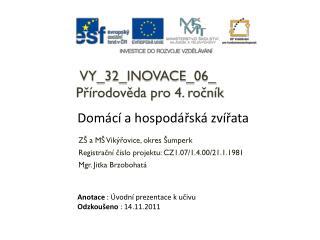 VY_32_INOVACE_06_ Přírodověda pro 4. ročník