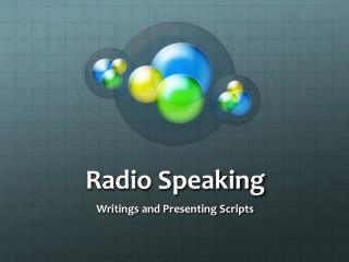Radio Speaking