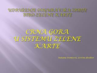 Udruženje osiguravača Srbije  Biro zelene karte