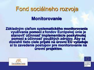 Fond sociálneho rozvoja