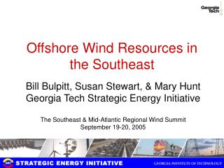 Offshore Wind Resources in the Southeast