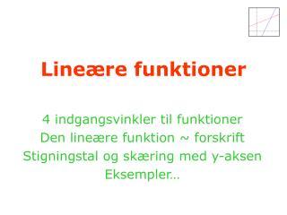 Lineære funktioner