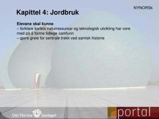 Kapittel 4: Jordbruk