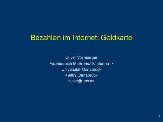 Bezahlen im Internet: Geldkarte