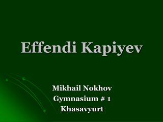 Effendi Kapiyev