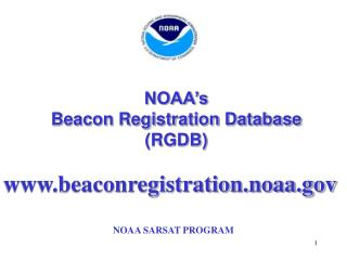 NOAA's  Beacon Registration Database (RGDB)