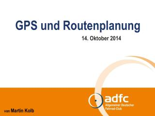 GPS und Routenplanung
