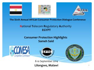 N ational  T elecom  R egulatory  A uthority  EGYPT Consumer Protection Highlights  Sameh  Said