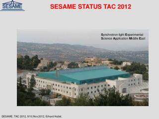 SESAME STATUS TAC 2012