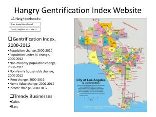 Hangry Gentrification Index Website