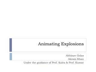 Animating Explosions