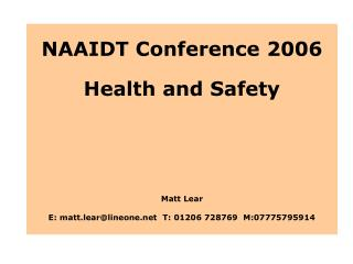NAAIDT Conference 2006