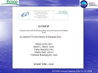 ECOOP annual meeting Feb 13-14, 2008