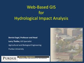 Web-Based GIS for  Hydrological Impact Analysis