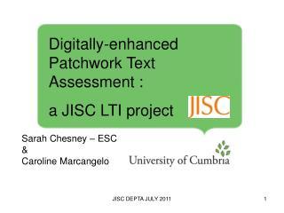 Sarah Chesney – ESC  &  Caroline Marcangelo