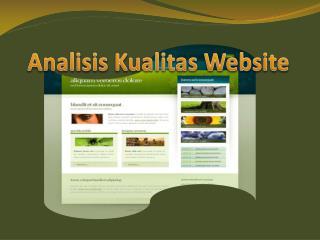 Analisis Kualitas  Website