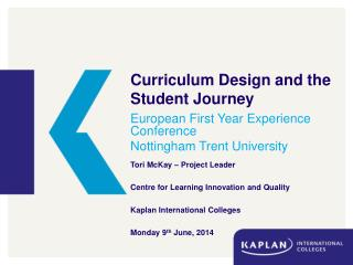 Curriculum Design and the Student Journey