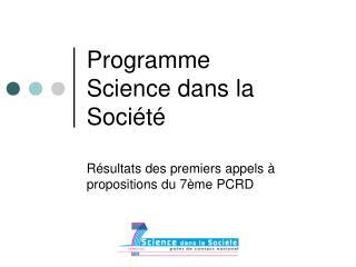 Programme  Science dans la Société