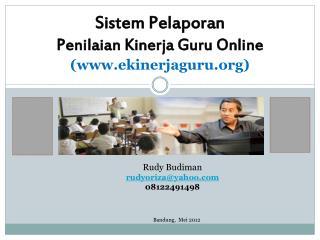 Sistem Pelaporan  Penilaian Kinerja  Guru Online  (ekinerjaguru)