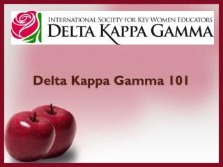 Delta Kappa Gamma 101