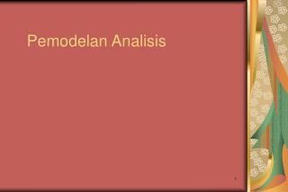 Pemodelan Analisis