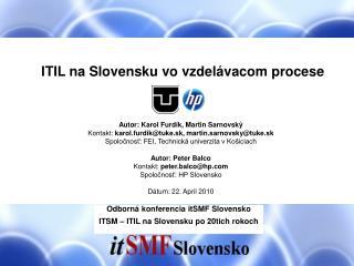 ITIL na Slovensku vo vzdelávacom procese