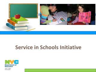 Service in Schools Initiative