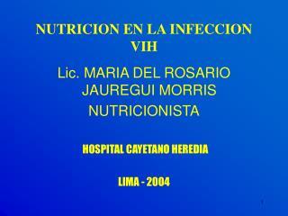 NUTRICION EN LA INFECCION VIH