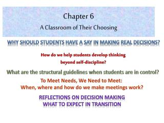 Chapter 6 A Classroom of Their Choosing