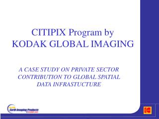 CITIPIX Program by  KODAK GLOBAL IMAGING