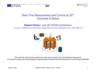 Real Time Measurement and Control at JET Overview  Status