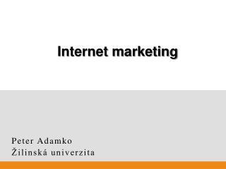 Peter Adamko Žilinská univerzita