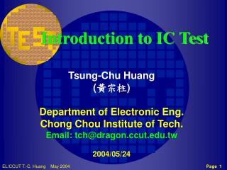 Introduction to IC Test