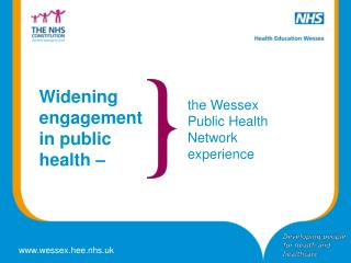 Widening engagement in public health �