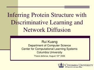 Inferring Protein Structure with Discriminative Learning and Network Diffusion