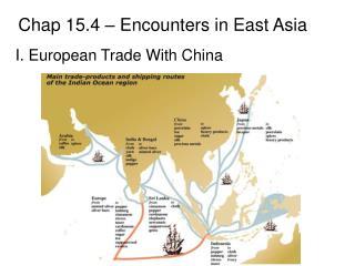 I. European Trade With China