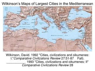 Wilkinson's Maps of Largest Cities in the Mediterranean