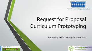 Request for Proposal  Curriculum Prototyping