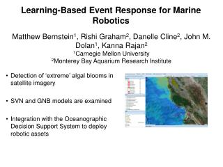 Learning-Based Event Response for Marine Robotics