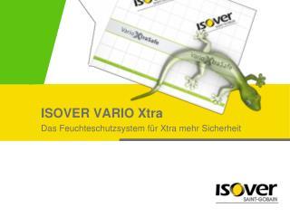 ISOVER VARIO  Xtra