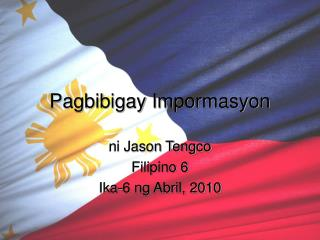 Pagbibigay Impormasyon