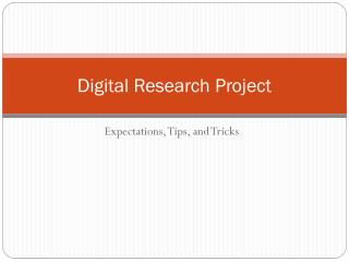 Digital Research Project