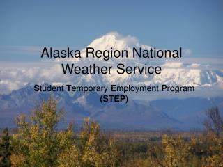 Alaska Region National Weather Service