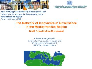 The Network of Innovators in Governance  in the Mediterranean Region Draft Constitutive Document