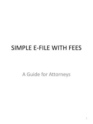 SIMPLE E-FILE WITH FEES