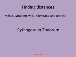 Finding distances